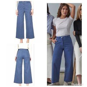 Everlane Wide Leg pants size 8 blue
